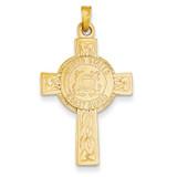 Cross with Coast Guard Insignia Pendant 14k Gold REL115