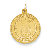 US Air Force Saint Christopher Medal Pendant 14k Gold REL140