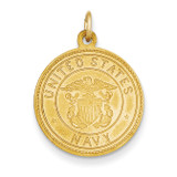 US Navy Saint Christopher Medal Pendant 14k Gold REL144