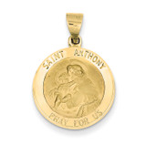 Saint Anthony Medal Pendant 14k Gold REL146