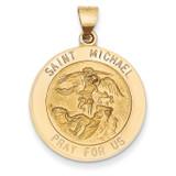 Saint Michael Medal Pendant 14k Gold REL148