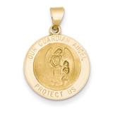 Guardian Angel Medal Pendant 14k Gold REL149