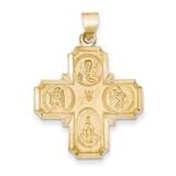 Four-Way Medal Pendant 14k Gold REL150