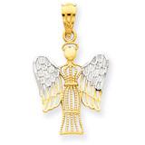 Rhodium Angel Pendant 14k Gold REL160