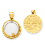 Mustard Seed Domed If Ye Have Faith Pendant 14k Gold REL164