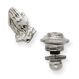 Praying Hands Tie Tac 14k White Gold REL95