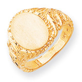 Men's Signet Ring 14k Gold RS149