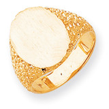 Men's Signet Ring 14k Gold RS152
