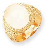 Men's Signet Ring 14k Gold RS162