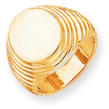 Men's Signet Ring 14k Gold RS164