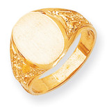 Men's Signet Ring 14k Gold RS165
