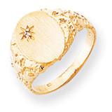 Diamond men's signet ring 14k Gold RS166AA