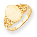Signet Ring 14k Gold RS167