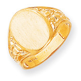 Men's Signet Ring 14k Gold RS171