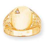 Hollow Back 14.6x11 Signet Ring Mounting 14k Gold RS172