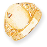 Diamond men's signet ring 14k Gold RS172AA