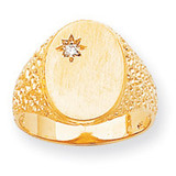 Oval Face Hollow Back 16x11.8 Signet Ring Mounting 14k Gold RS173