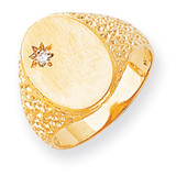 Hollow Back 16x11.8 Completed Signet Ring 14k Gold RS173AA