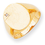 Diamond men's signet ring 14k Gold RS175AA
