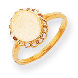 Signet Ring 14k Gold RS191