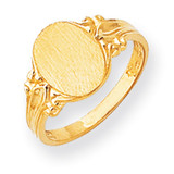 Signet Ring 14k Gold RS195