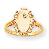 Diamond ladies' ring 14k Gold RS232AA