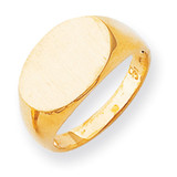 Men's Signet Ring 14k Gold RS249