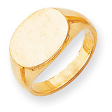 Men's Signet Ring 14k Gold RS253