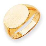 Men's Signet Ring 14k Gold RS256
