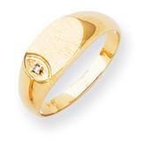 Diamond signet ring 14k Gold RS272AA