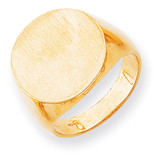 Men's Signet Ring 14k Gold RS281