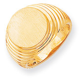 Men's Signet Ring 14k Gold RS295