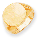 Men's Signet Ring 14k Gold RS297