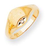 Diamond signet ring 14k Gold RS299AA