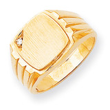 Diamond signet ring 14k Gold RS395AA