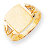 Diamond signet ring 14k Gold RS396AA