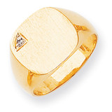 Diamond signet ring 14k Gold RS397AA