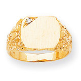 Back 10.2x11.3 Diamond Signet Ring Mounting 14k Gold Solid RS398