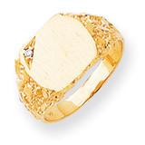 Diamond signet ring 14k Gold RS398AA