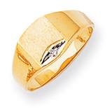 Diamond signet ring 14k Gold RS399AA