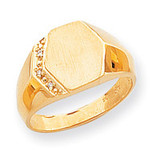 Hollow Signet Ring 14k Gold RS495