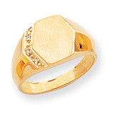 Diamond signet ring 14k Gold RS495AA