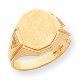 Hollow Signet Ring 14k Gold RS499