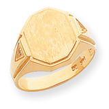 Diamond signet ring 14k Gold RS499AA