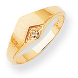 Diamond Ladies Hollow Back Signet Ring 14k Gold RS530AA