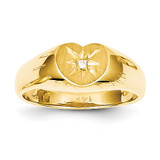 Childs .005ct. Diamond Ring Mounting 14k Gold RS655