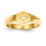 Child's Diamond Signet Ring 14k Gold RS656AA