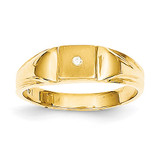 Child's Diamond Ring Mounting 14k Gold RS657