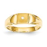 Child's Diamond Signet Ring 14k Gold RS657AA