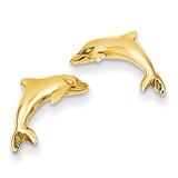 Dolphin Earrings 14k Gold S1126